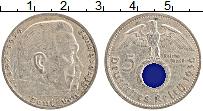 Изображение Монеты Третий Рейх 5 марок 1936 Серебро XF A. Пауль фон Гинденб
