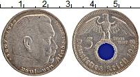 Изображение Монеты Третий Рейх 5 марок 1938 Серебро XF A. Пауль фон Гинденб