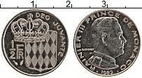Продать Монеты Монако 1/2 франка 1982 Медно-никель