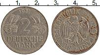 Изображение Монеты ФРГ 2 марки 1951 Медно-никель XF D