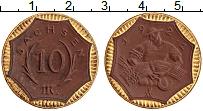 Изображение Монеты Германия : Нотгельды 10 марок 1921 Фарфор UNC Саксония