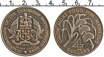 Изображение Монеты Сент-Люсия 4 доллара 1970 Медно-никель UNC- ФАО