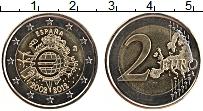 Изображение Монеты Испания 2 евро 2012 Биметалл UNC- 10 лет наличному обр