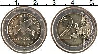 Изображение Монеты Италия 2 евро 2011 Биметалл UNC- 150 лет объединению