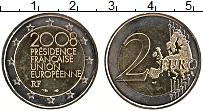 Изображение Монеты Франция 2 евро 2008 Биметалл UNC- Председательство Фра