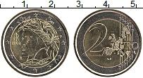 Изображение Монеты Италия 2 евро 2002 Биметалл UNC- Данте Алигьери