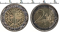 Изображение Монеты Франция 2 евро 2001 Биметалл UNC- Дерево