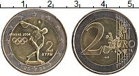 Изображение Монеты Греция 2 евро 2004 Биметалл UNC- Олимпиада в Афинах