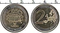 Изображение Монеты Испания 2 евро 2007 Биметалл UNC- 50 лет подписания Ри
