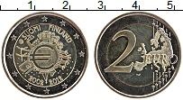 Изображение Монеты Финляндия 2 евро 2012 Биметалл UNC- 10 лет наличному обр