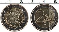 Изображение Монеты Финляндия 2 евро 2005 Биметалл UNC- 60 лет ООН и 50 лет