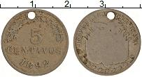 Изображение Монеты Боливия 5 сентаво 1892 Медно-никель VF Отверстие