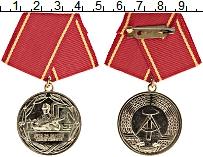 Изображение Монеты ГДР Медаль 0 Латунь UNC- За отличную службу в