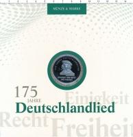 Изображение Подарочные монеты Германия 20 евро 2016 Серебро Proof `175 лет ``Песни нем