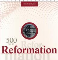 Изображение Подарочные монеты Германия 20 евро 2017 Серебро Proof 500 лет Реформации.