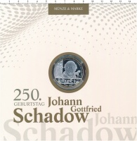 Изображение Подарочные монеты Германия 10 евро 2014 Серебро Proof