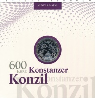 Изображение Подарочные монеты Германия 10 евро 2014 Серебро Proof 600 лет Констанцском