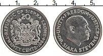 Изображение Монеты Сьерра-Леоне 20 центов 1984 Медно-никель UNC- Сиака Стивенс
