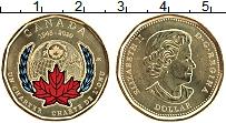 Изображение Мелочь Канада 1 доллар 2020 Латунь UNC 75 лет ООН. Цветная