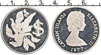 Изображение Монеты Каймановы острова 1 доллар 1977 Серебро Proof- Редкий год !. Елизав