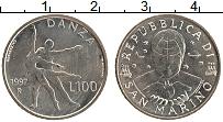 Изображение Монеты Сан-Марино 100 лир 1997 Медно-никель XF Балет