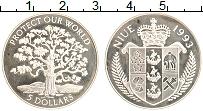 Изображение Монеты Ниуэ 5 долларов 1993 Серебро Proof- Сохранение нашего ми