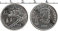 Изображение Монеты Канада 25 центов 2007 Медно-никель UNC Елизавета II. Олимпи