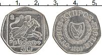 Изображение Монеты Кипр 50 центов 1994 Медно-никель XF Похищение Европы