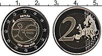Изображение Монеты Испания 2 евро 2009 Биметалл UNC 10 лет Экономическом