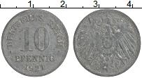 Изображение Монеты Германия 10 пфеннигов 1921 Цинк VF Герб