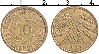 Изображение Монеты Веймарская республика 10 пфеннигов 1929 Латунь XF F