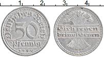 Изображение Монеты Веймарская республика 50 пфеннигов 1920 Алюминий XF F