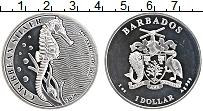 Изображение Монеты Барбадос 1 доллар 2020 Серебро Proof- Морской конек