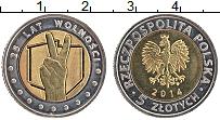 Продать Монеты Польша 5 злотых 2014 Биметалл