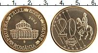 Изображение Монеты Румыния 20 евроцентов 2003 Латунь UNC Проба