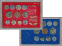 Изображение Подарочные монеты Кипр Набор монет 0  UNC