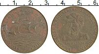 Изображение Монеты Нидерланды Жетон 0 Латунь XF Васско да Гама