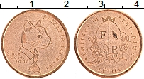 Изображение Монеты Италия Жетон 2010 Медь XF 1 питте.Жетон пицери