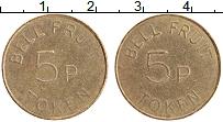 Изображение Монеты Великобритания Жетон 0 Латунь XF 5 пенни Токен
