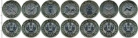 Изображение Наборы монет Казахстан 100 тенге 2020 Биметалл UNC Набор из семи монет