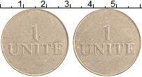 Изображение Монеты Нидерланды Жетон 0 Бронза XF 1 unite фишка