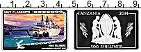 Изображение Мелочь Танзания 500 шиллингов 2014 Серебро Proof Десантный корабль кл