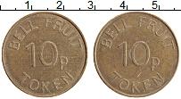 Изображение Монеты Великобритания Жетон 0 Латунь XF 10 пенсов Токен