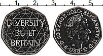 Изображение Мелочь Великобритания 50 пенсов 2020 Медно-никель UNC