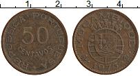 Изображение Монеты Мозамбик 50 сентаво 1973 Бронза XF Португальская колони