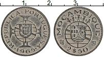 Изображение Монеты Мозамбик 2 1/2 эскудо 1965 Медно-никель XF- Португальская колони