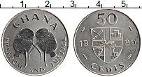 Изображение Монеты Гана 50 седи 1999 Медно-никель UNC