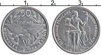 Изображение Монеты Новая Каледония 50 сентим 1949 Алюминий UNC-