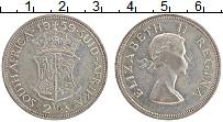 Изображение Монеты ЮАР 2 1/2 шиллинга 1959 Серебро XF Елизавета II.