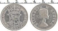 Изображение Монеты ЮАР 2 1/2 шиллинга 1955 Серебро XF Елизавета II.